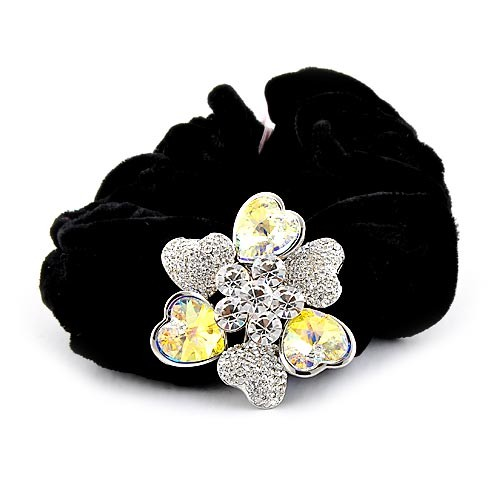 Headband hair rope tenfolds NEOGLORY accessories 3 crystal flower headband hair accessory hair accessory rubber band(China (Mainland))