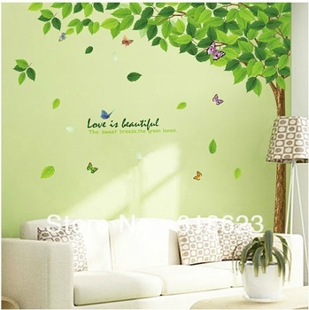 Wholesale 5pc/lot DIY tree wall art sticker 200*250cm parlor bedroom home decor tv Sofa background pvc sticker removable  XY1093