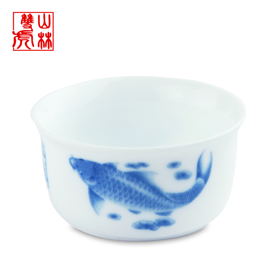 Kung fu tea cup ceramic cup blue and white porcelain tea cup glass single Qing Hua porcelain cup/tea tools(China (Mainland))