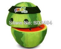 New Arrival Fruit Ninja toy Watermelon Plush Toy Fruit Cut watermelon On Line Game cartoon Toy