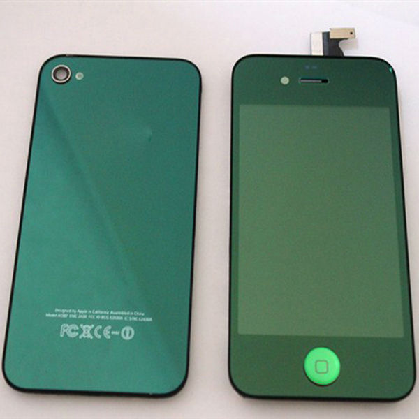 hot selling lcd assembly for iphone4(LCD+touch screen with digitizer+button +frame+back cover)(China (Mainland))