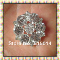 Free Shipping ! Round Rhinestone Brooch With Loop Back  ,Price Negotiable For Large Order