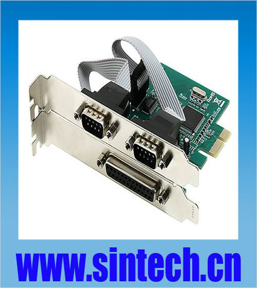 PCI-e 1x Express 2 Serial + 1 Parallel Ports Controller Card Adapter ,Chipset MOSCHIP(China (Mainland))