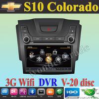 Car DVD Player autoradio GPS  for Chevrolet S10 Colorado + 3G WIFI + V-20 Disc + 1GB cpu + DDR 512M RAM + DVR + A8 Chipset