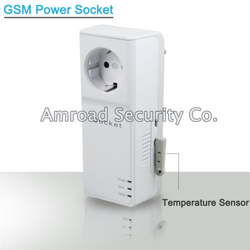 GSM Power Socket SMS Remote Controller Relay Output Switch Box Quad Band w Temperature Sensor, FREE Shipping by Post(China (Mainland))