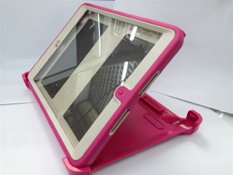 Wholesale DHL free 2013 newest hot sale TPE hybrid proof case for ipad mini with clip and retail box(China (Mainland))