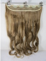 "New One 24"" Synthetic Fiber 130g 6Clips On Cap Wig Pure More Hair Colors #27/613"