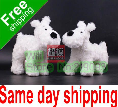 Retail The Adventures of Tintin White Dog doll SNOWY 19cm,Cheap price doll figure,Factory direct off(China (Mainland))