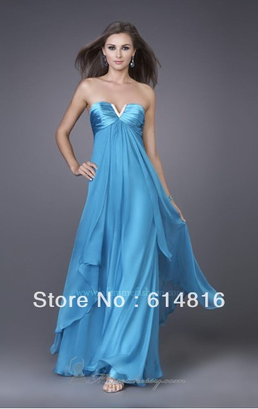 Empire Chiffon Prom Dresses 2012 Floor Length Straight Fast Cheap Shipping You Choose Size And Color(China (Mainland))