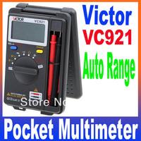 VICTOR VC921 3 3/4 DMM Integrated Personal Handheld Pocket Mini Digital Multimeter Auto Range Free Shipping