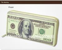 Free Shipping 1Piece 100 Dollar Bill Money Wallet Man BIFOLD Wallet Dollar Wallet