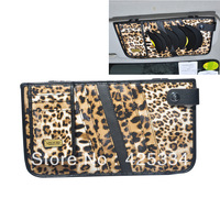 Free Shipping New Leopard Design Car Auto Sun Visor CD Holder Disc/Disk Organizer Storage