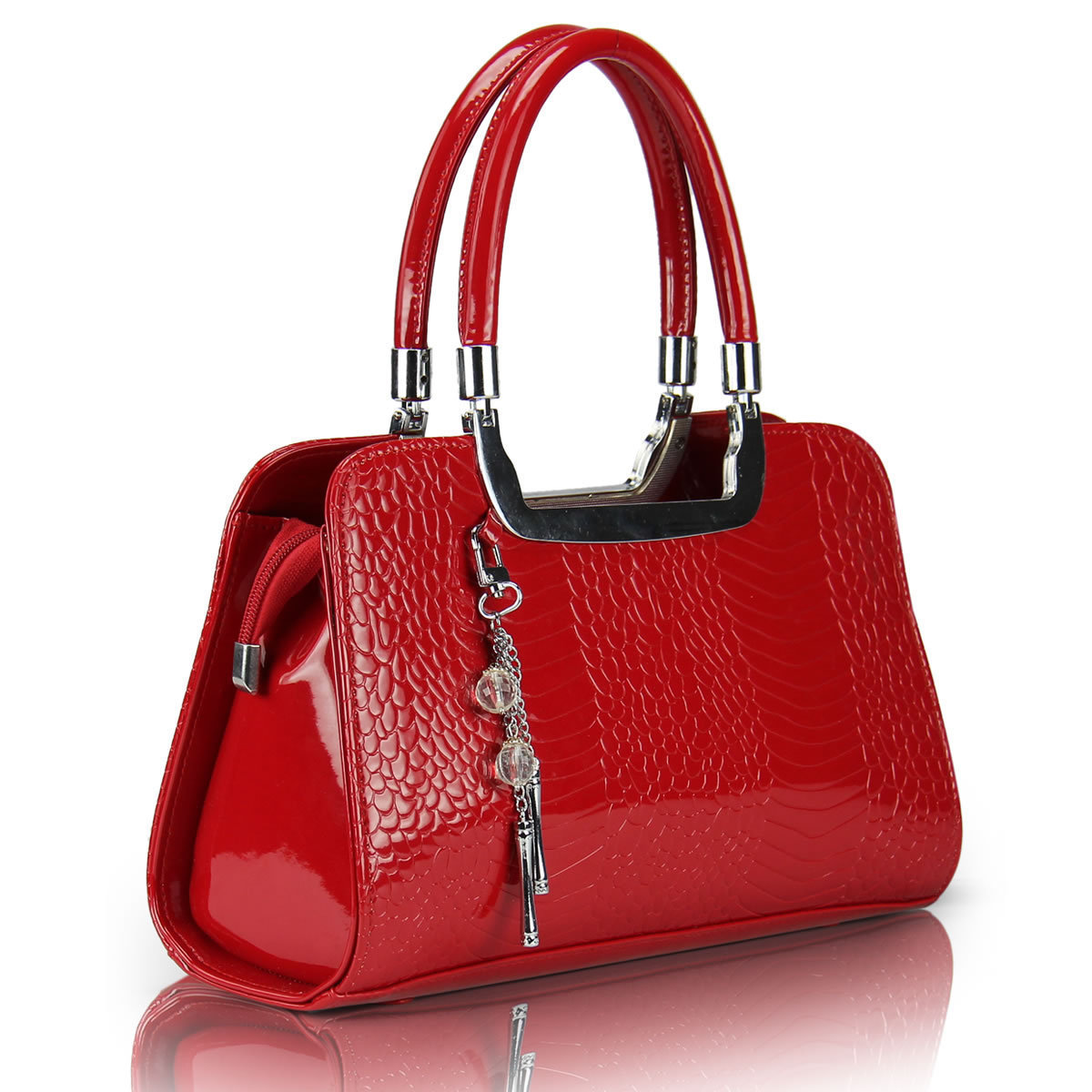 Freeshipping hot Small bags red bridal bag 2013 women's handbag ol one shoulder handbag bright japanned leather(China (Mainland))