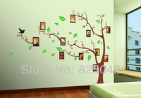 Free shipping Hot selling Black 3D Sticker DIY Decoration Fashion Living Room Photo Tree Wall Sticker/Decals 10pcs/lot