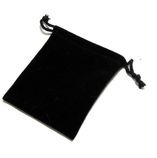 EMS Free Shipping !2000pcs New 7*9cm Jewellery Packaging Velvet Pouches Black With Drawstrings Christmas/Wedding Gift bags(China (Mainland))