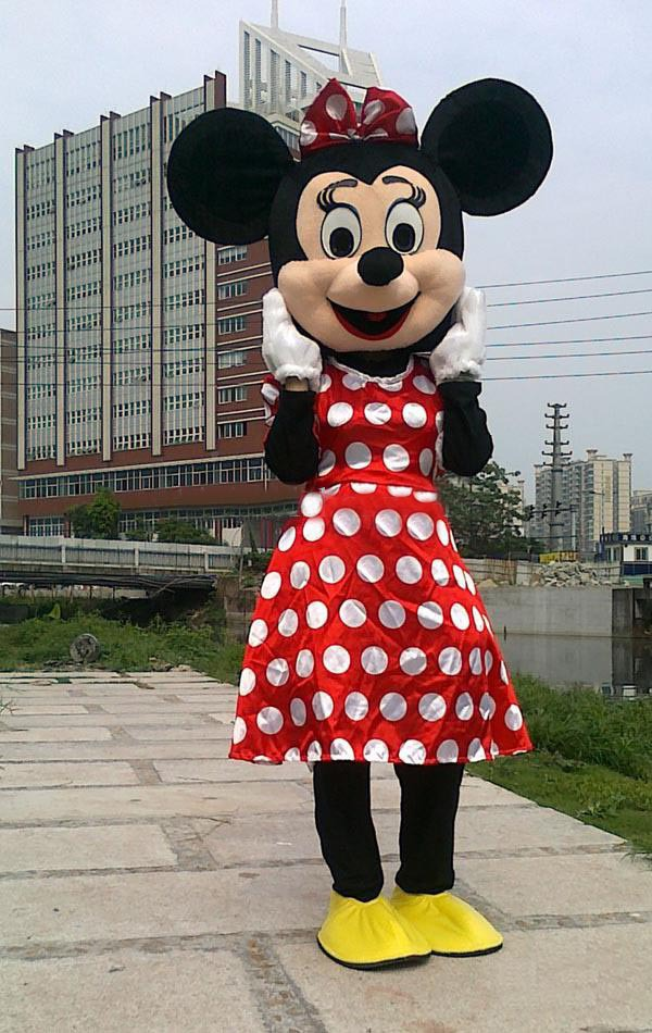 Red and White Minnie Mascot Costume Company Party Wedding Supplies Christmas Costumes from baby56(China (Mainland))