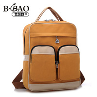 Fashion color block canvas women versatile handbag versatile women fabric travel backpack muti-purpose women school backpack