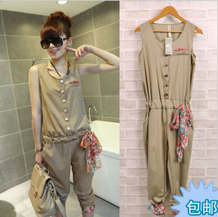 2013 summer women's elegant jumpsuit capris women's vest female jumpsuit(China (Mainland))