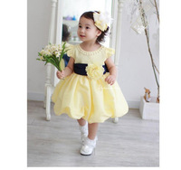 Baby party dresses girls summer flower dresses kids wedding dress with pearl flower girl dresses pageant dresses for girls 4PCS