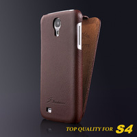 Top quality genuine leather case for Samaung galaxy S4 Original Fashion Brand ultra thin leather cover handbag for SIV i9500