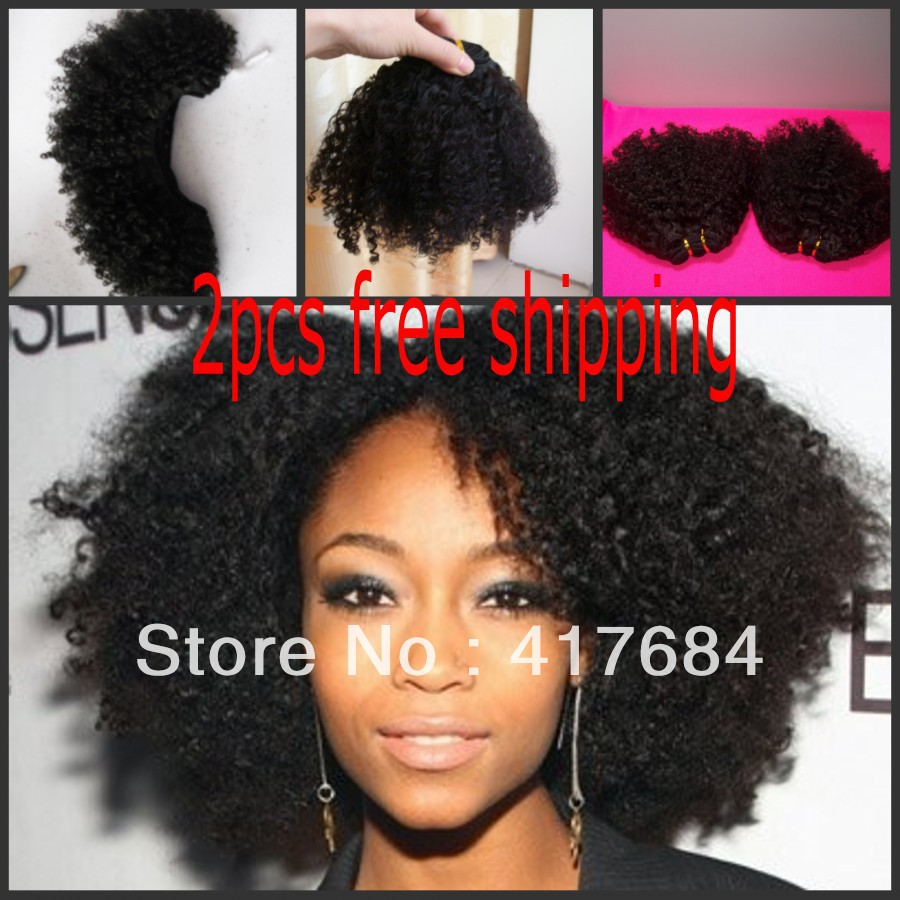 2013 new design fastion queen peruvian virign hair weaving 200g in total kinky curly free shipping(China (Mainland))