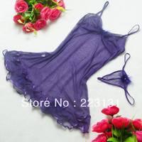 Women sexy underwear and dress mesh clothing girl sexy night wear Freeshipping