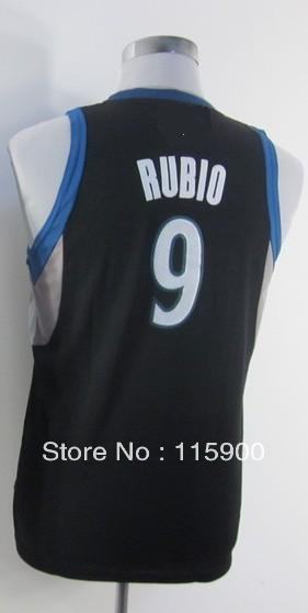 Hot!free shipping new arrival black youth #9 RUBIO #42 LOVE kids new material basketball jerseys SIZE S-XL!(China (Mainland))