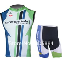 2013 CANNOND LIQUIGAS TEAM Cycling Vest  SLEEVELESS Jersey Bike Wear Cycling Wear + Short SZIE:XS-4XL