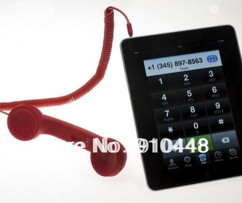 Free shipping 3.5mm Volume Remote Control Matte Retro POP Cell Phone Handset For Apple iPhone 4 4S(China (Mainland))