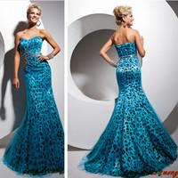 New mermaid Leopard prom dress sweetheart beaded organza Evening dress party dress FL012