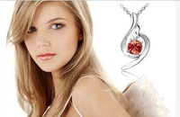 free shipping lucky angle crystal pendant necklace