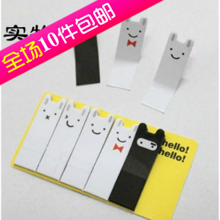 Jstory rabbit notes on paper cute bookmark notes on paper sticky memo pad s0338 (With free shipping for $10)(China (Mainland))