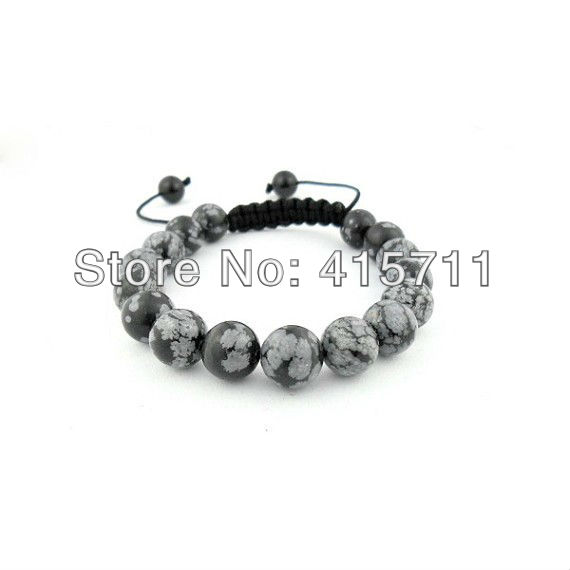 10mm Snowflake Jasper Beads Shamballa Style Bracelet(China (Mainland))