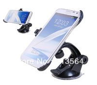 For N7100 note 2 Windscreen mount Car with suction cup Stand windshield Holder For Samsung GALAXY Note II N7100 free shipping