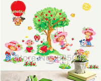 Free Shipping tree and girl Wall Sticker Room Wall Paster House  Poster 2012 New HOT Piece Wholesale and Retail