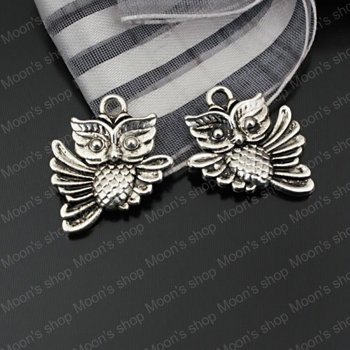 (23375)Fashion Jewelry Findings,Accessories,charm,pendant,Alloy Antique Silver 20*17MM Owl 30PCS(China (Mainland))