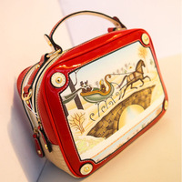 Free shipping 2013 japanned leather bags candy color handbag  women's handbag  famous brand bag,designer brand handbags