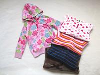 Children's clothing male girls clothing polar fleece fabric sweatshirt outerwear thin thick