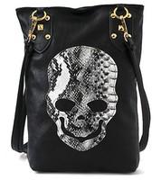 Drop shipping New Style Fashion skull package rivets diagonal Messenger Bags women's Shoulder bag lady Cross Body bag
