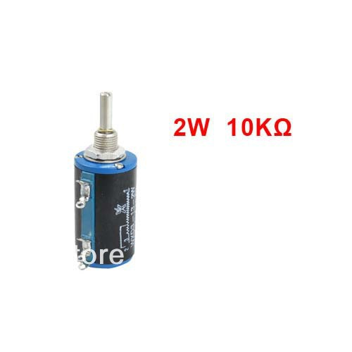 WXD3-13 10K ohm 2W Watts 4mm Round Shaft Rotary Wire Wound Potentiometer(China (Mainland))