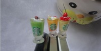 New Arrival Starbucks Sweet ice cream cup 3.5mm mobile smart cell-phone earphones headphones jack dust cap plug for iPhone 4 5