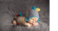 Retail CPAM free shipping 100% handmade baby crochet 2pcs sets ( knitted hat + knitted briefs ) for 6-18 months ( one size )