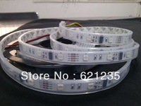 12V ws2801  12 IC/m  36LEDs/M addressable RGB LED strip IP67(silicon tube)