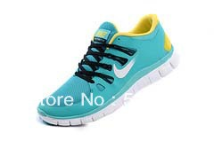 24 hours top quality 2013 Newest Men's free run 5.0+ v2 running shoes men athletic casual sports man boots sports green-yellow(China (Mainland))