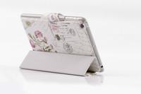 Free shipping Flower 4colours for mini ipad leather case luxurious case for ipad mini cover case for ipad mini