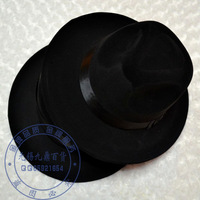 Free drop shipping General jazz hat black british style jazz hat fedoras cap black fashion fedoras  hats and caps