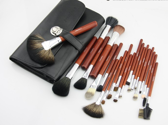 Two colors with bag,5 sets ,EMS, 22pcs/ lot cosmetic brushes Cosmetic brush high quality manufacturing Make-up brushes(China (Mainland))