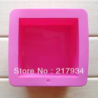 500ml Square Brick 9*9*6.5cm Handmade Soap Mold Silicone Material Free Shipping