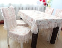 Table cloth lace cloth dining table cloth chair cover set with 6