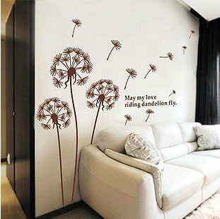 [CPA-Free] Wholesale-New Design Home Wall Sticker Removable Plants Pattern Decoration Wall Paster/Poster(China (Mainland))